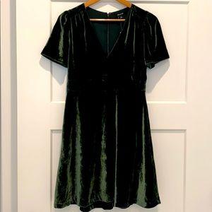 NEW Madewell Green Velvet Dress